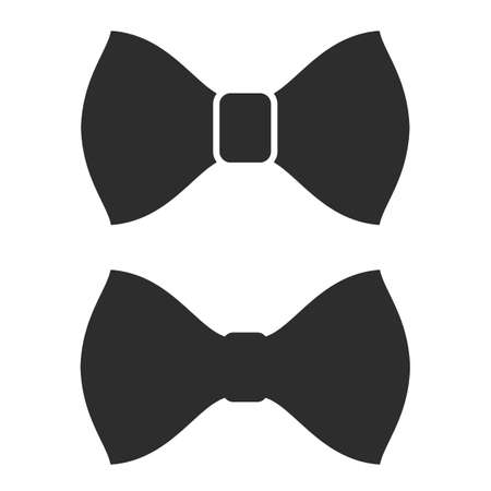 Bow tie vector icons on white background