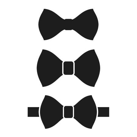 Bow tie vector icons set on white background