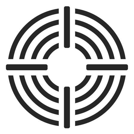 Goal or target vector icon on white background