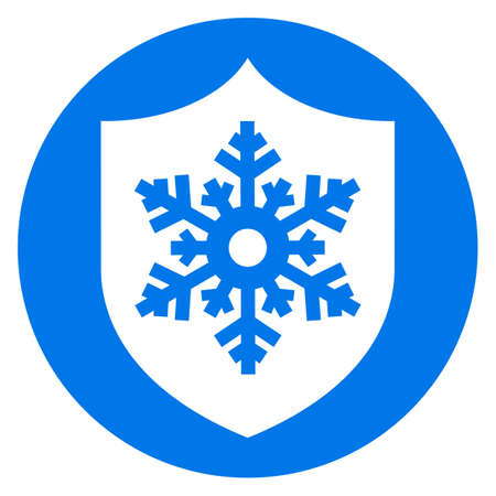 Frost protection vector icon on white background 일러스트