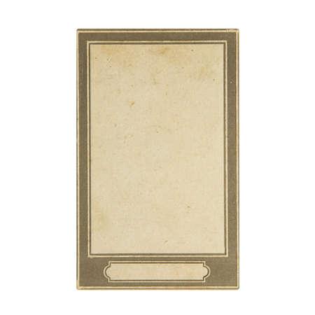Retro photo frame isolated on white background 스톡 콘텐츠