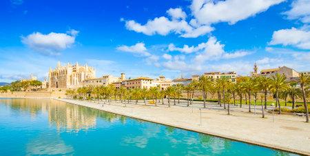 Panoramic view of Palma de Mallorca, Majorca island, Spain