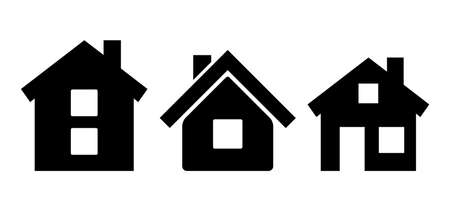 House icon, set of home vector illustrations on white background 일러스트