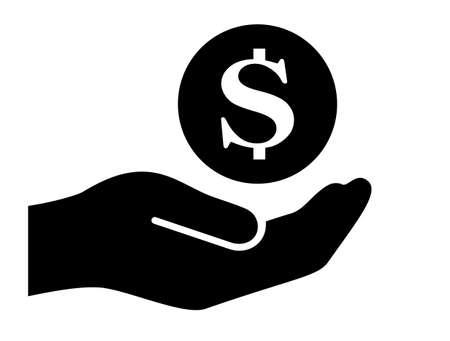 Save money vector icon on white background 일러스트