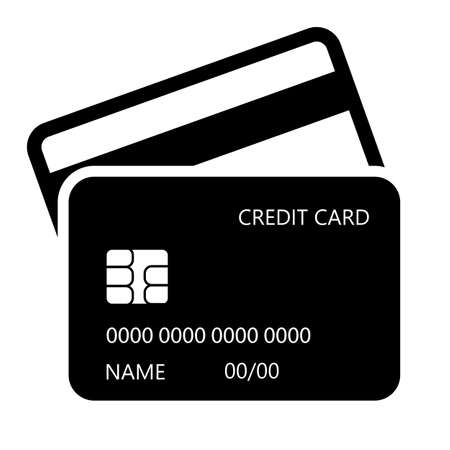 Credit card vector icon isolated on white background