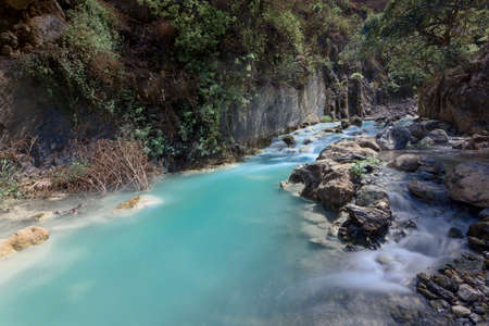 Thermal turquoise river Stockfoto - 131599359