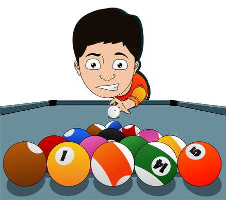 billiard balls: nice shot