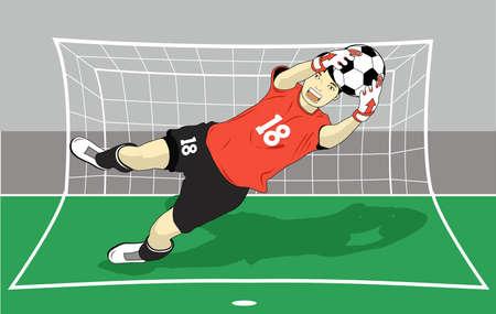 portero: volar a atrapar el balón