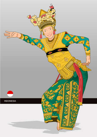 bali: dances are shook the world Illustration