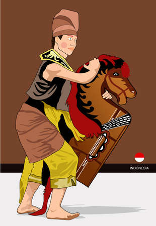 indonesia culture: dance with horse