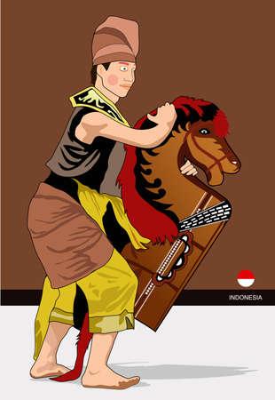 la danse à cheval Vecteurs