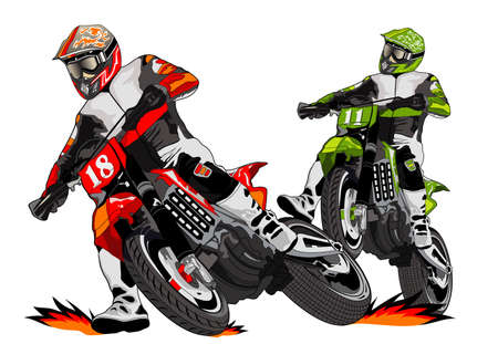 motorbike jumping: want to be a winner Illustration