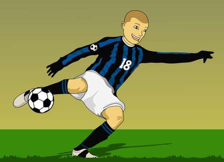 soccer goal: kicks off