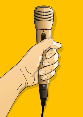 holding a microphone Stock Vector - 21509750