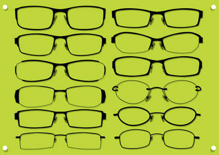 type of glasses  Иллюстрация