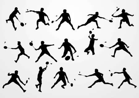 badmintonnen silhouette