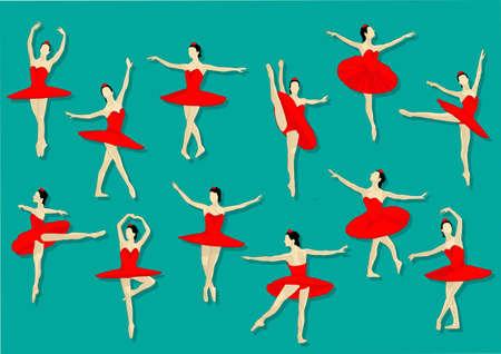 ballerina red Stock Vector - 21510847