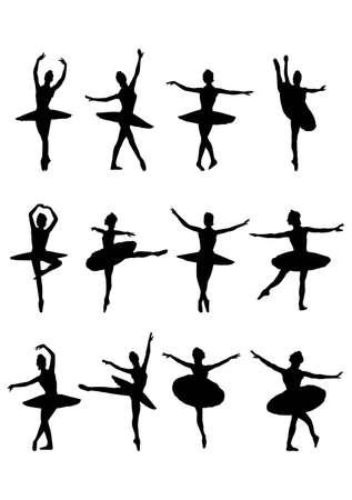 ballet dance: silhouette ballerina