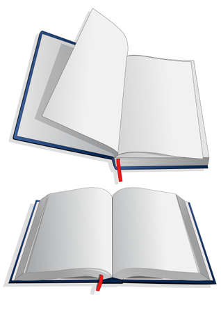 hard cover: white paper in the book