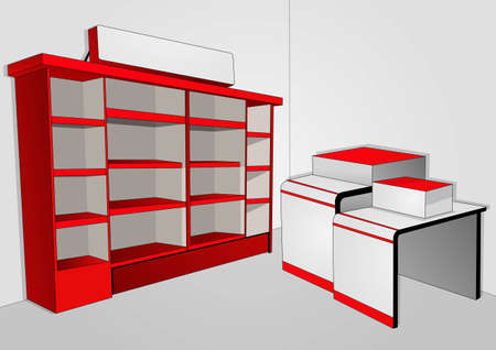single shelf: a place to store items to be sold 2