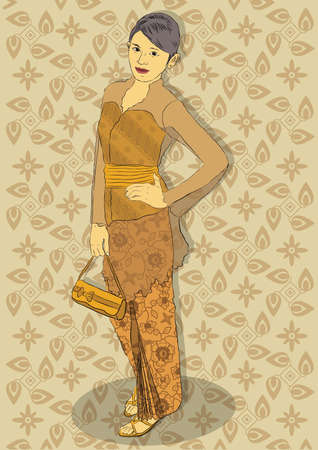 Indonesian traditional clothes Stock Vector - 21510885