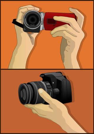 digital slr: camera video and photo Illustration