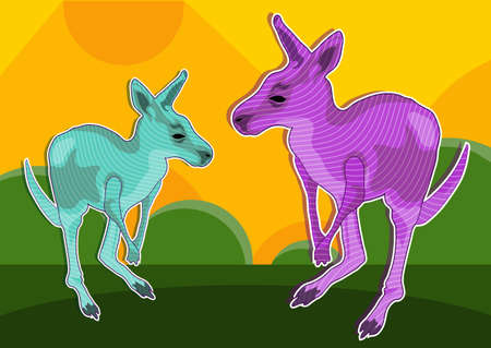 kangaroo imagination Stock Vector - 21510904