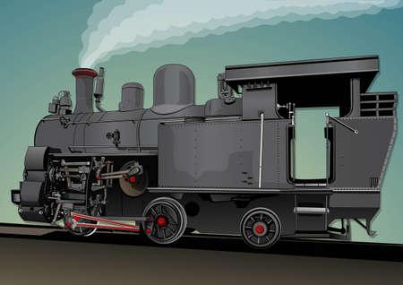 puffing: steam train locomotive