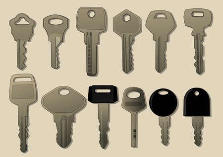various key Illustration