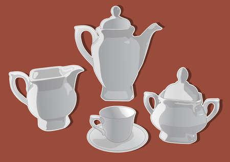 ceramic teapot 4 Vector