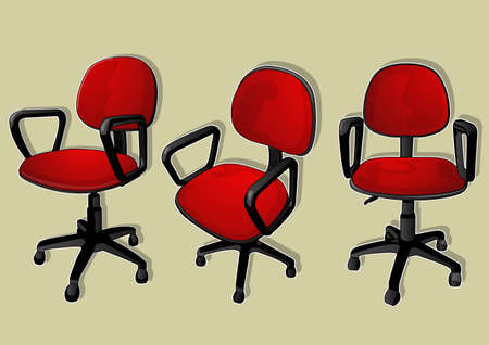 ergonomic: red office chair Illustration