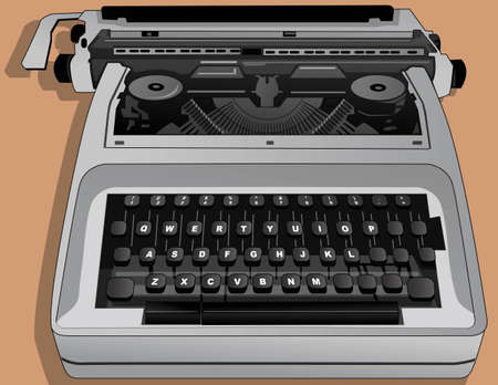 the typewriter Stock Vector - 21511756