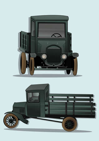 restored: antique car   Illustration