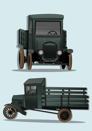 restored: antique car   Illustration