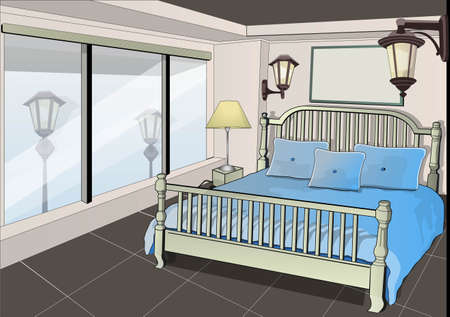 idea comfortable: my bedroom Illustration