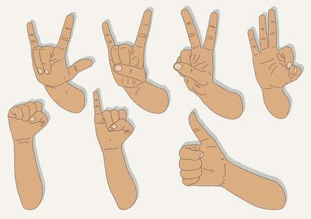 hand shape Stock Vector - 21511768