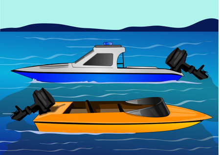 speed boat: water transportation