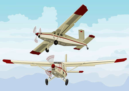 landing light: small plane