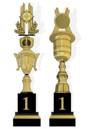 Trophy for the winner Stock Vector - 21511783