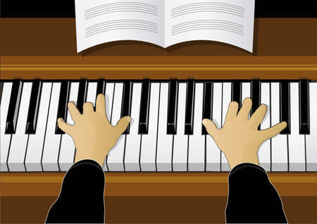 instrument practice: play the piano
