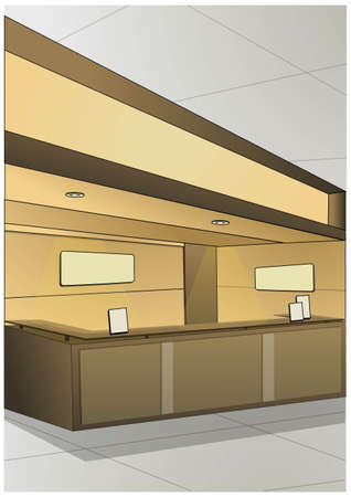 counter service: reception space
