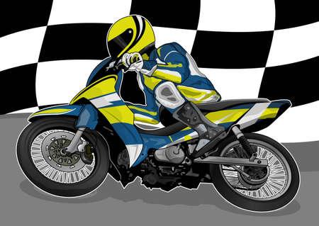 motorcycle racing Stock Vector - 21511791