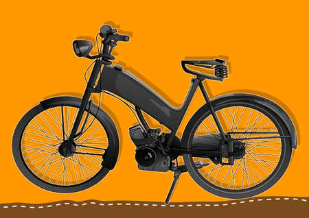 moped: classic motorized bicycles