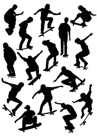 skater silhouette Ilustracja