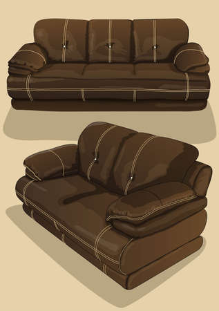 brown sofa seat Vector