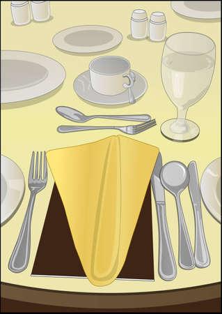 manner: table manner Illustration