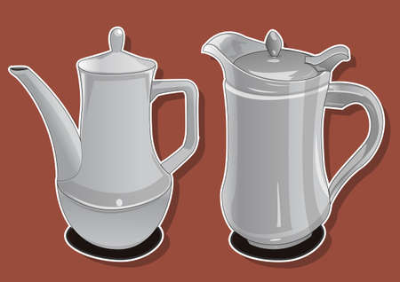 ceramic teapot  Vector