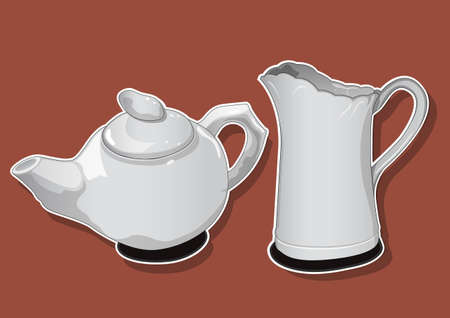 ceramic teapot 2 Vector