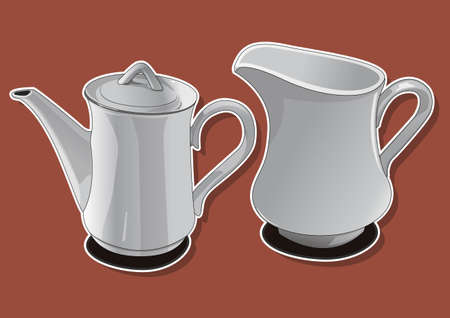 ceramic teapot 3 Vector