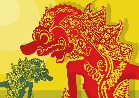 indonesien: Indonesische Schattentheater Illustration